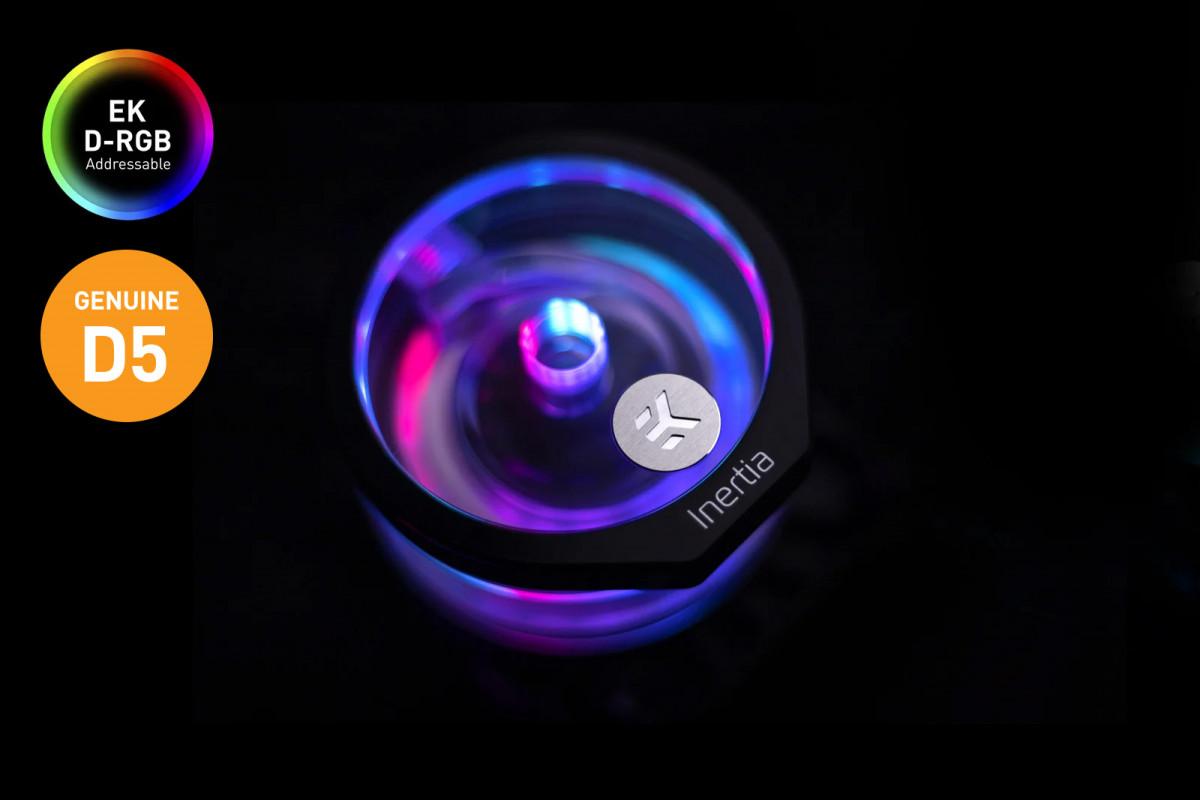 EK-Quantum Inertia D5 PWM D-RGB - Plexi