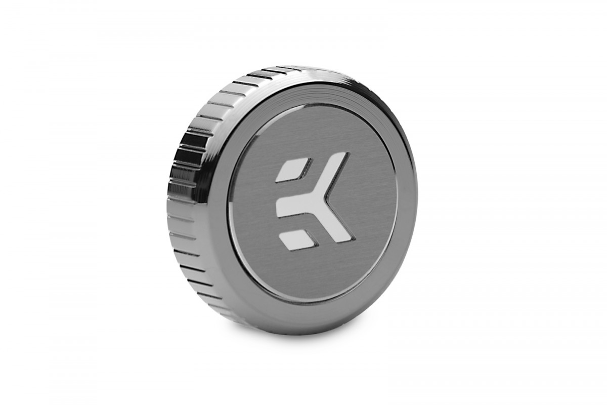 EK-Quantum Torque Plug w/Badge - Black Nickel