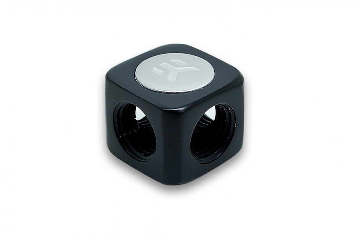 EK-AF X-Splitter 4F G1/4 - Black (QClass2)