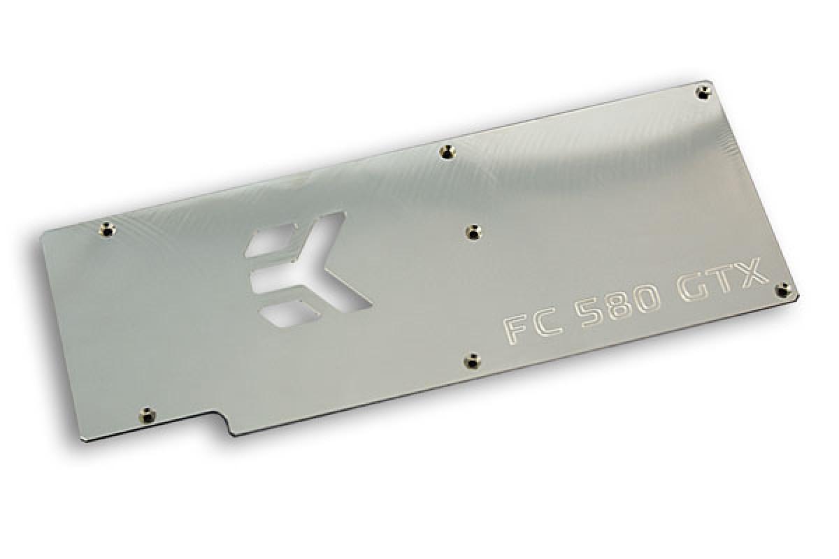 EK-FC580 GTX Backplate - Nickel plated
