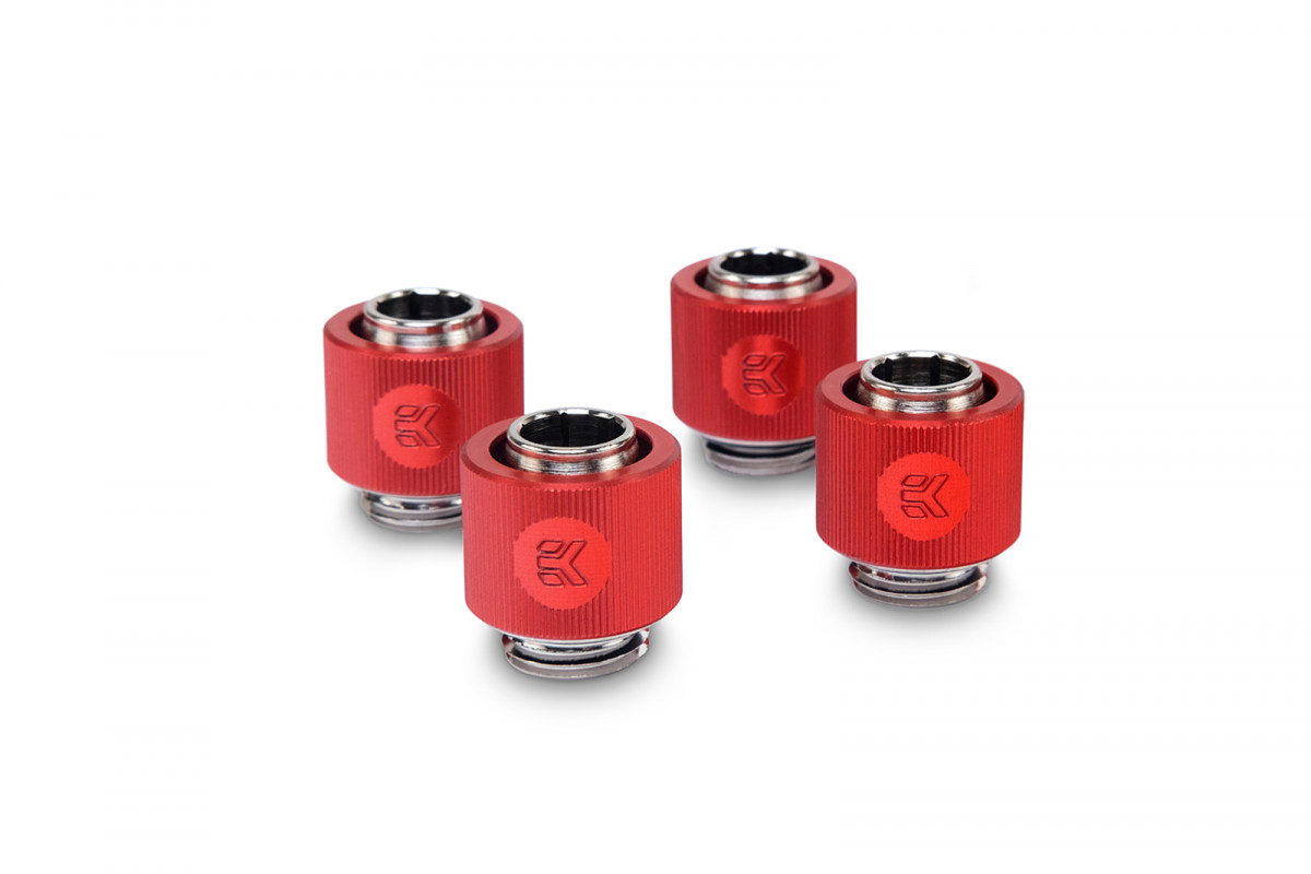 EK-ACF Fitting 10/13mm - Red (4-pack)