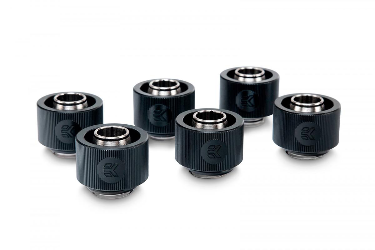 EK-ACF Fitting 10/16mm - Black (6-pack)