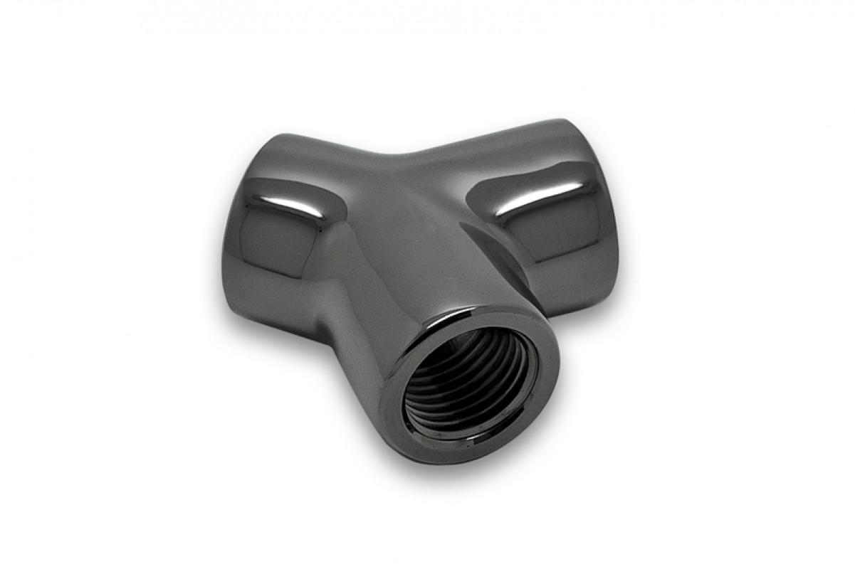EK-AF Y-Splitter 3F G1/4 - Black Nickel