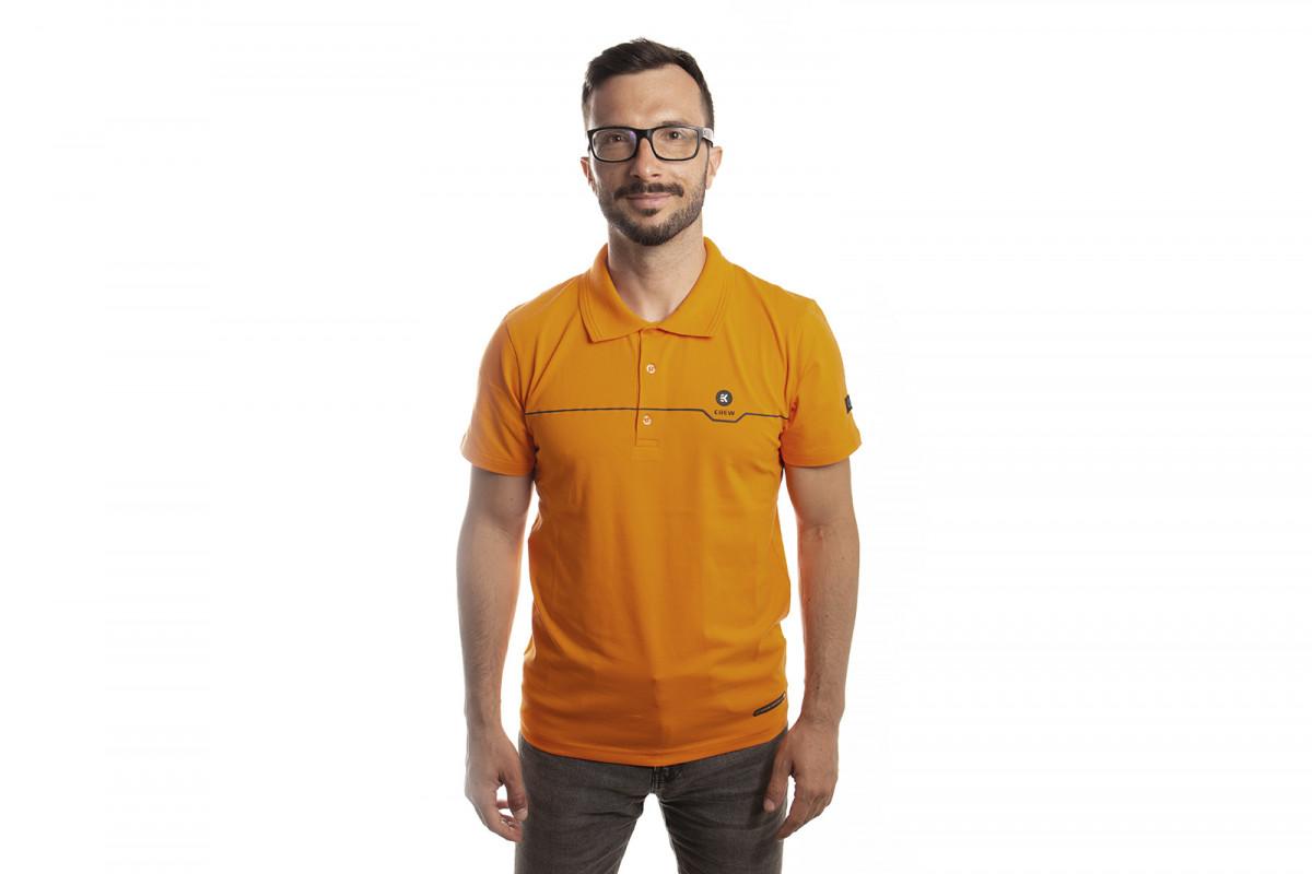 EK-Crew Men's Orange Polo - M