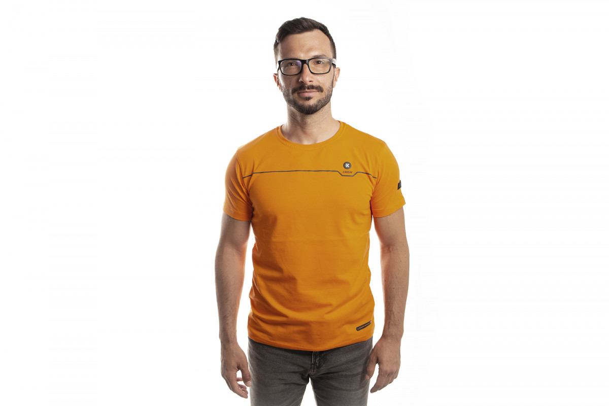 EK-Crew Men's Orange T-Shirt - M