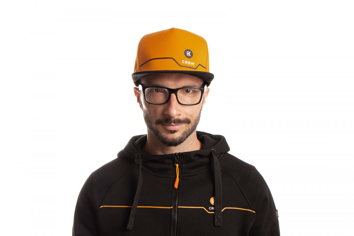 EK-Crew Orange Snapback Cap