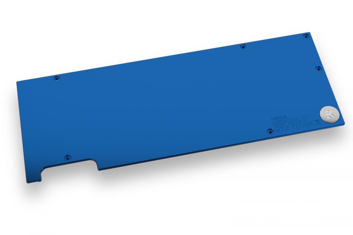 EK-FC Titan X Pascal Backplate - Blue