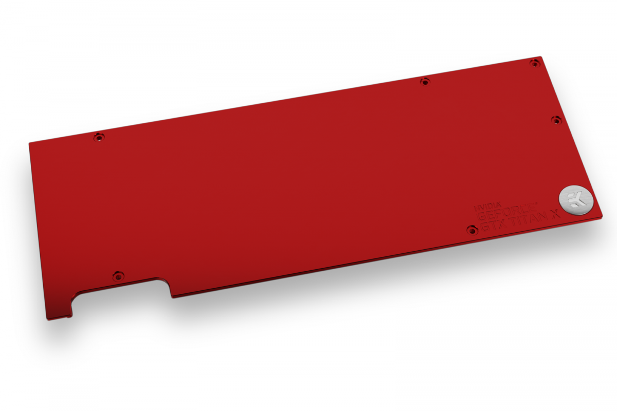 EK-FC Titan X Pascal Backplate - Red