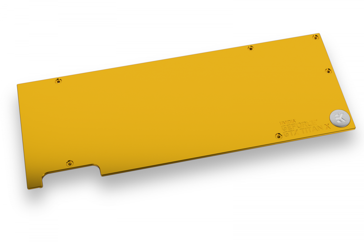 EK-FC Titan X Pascal Backplate - Gold