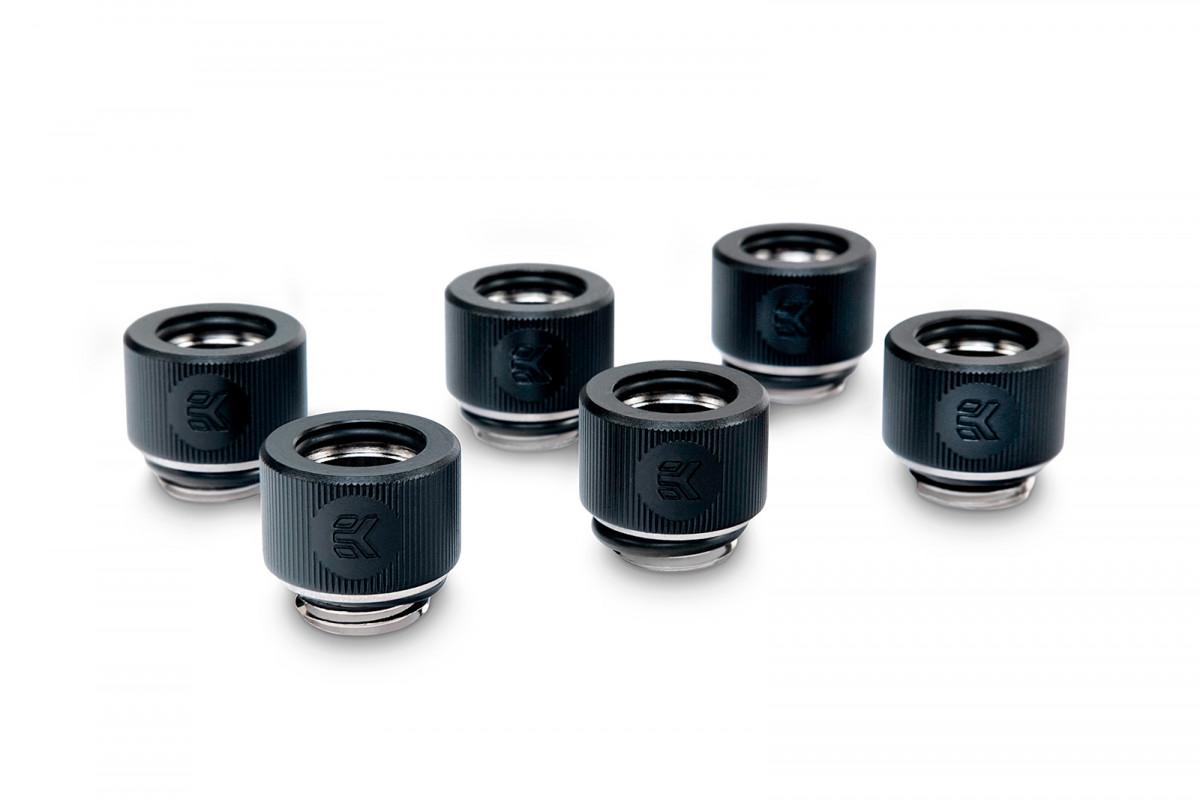 EK-HDC Fitting 12mm - Black (6-pack)