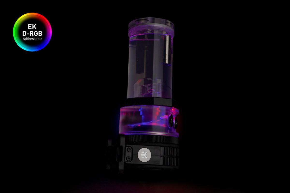EK-Quantum Kinetic TBE 200 D5 PWM D-RGB - Plexi
