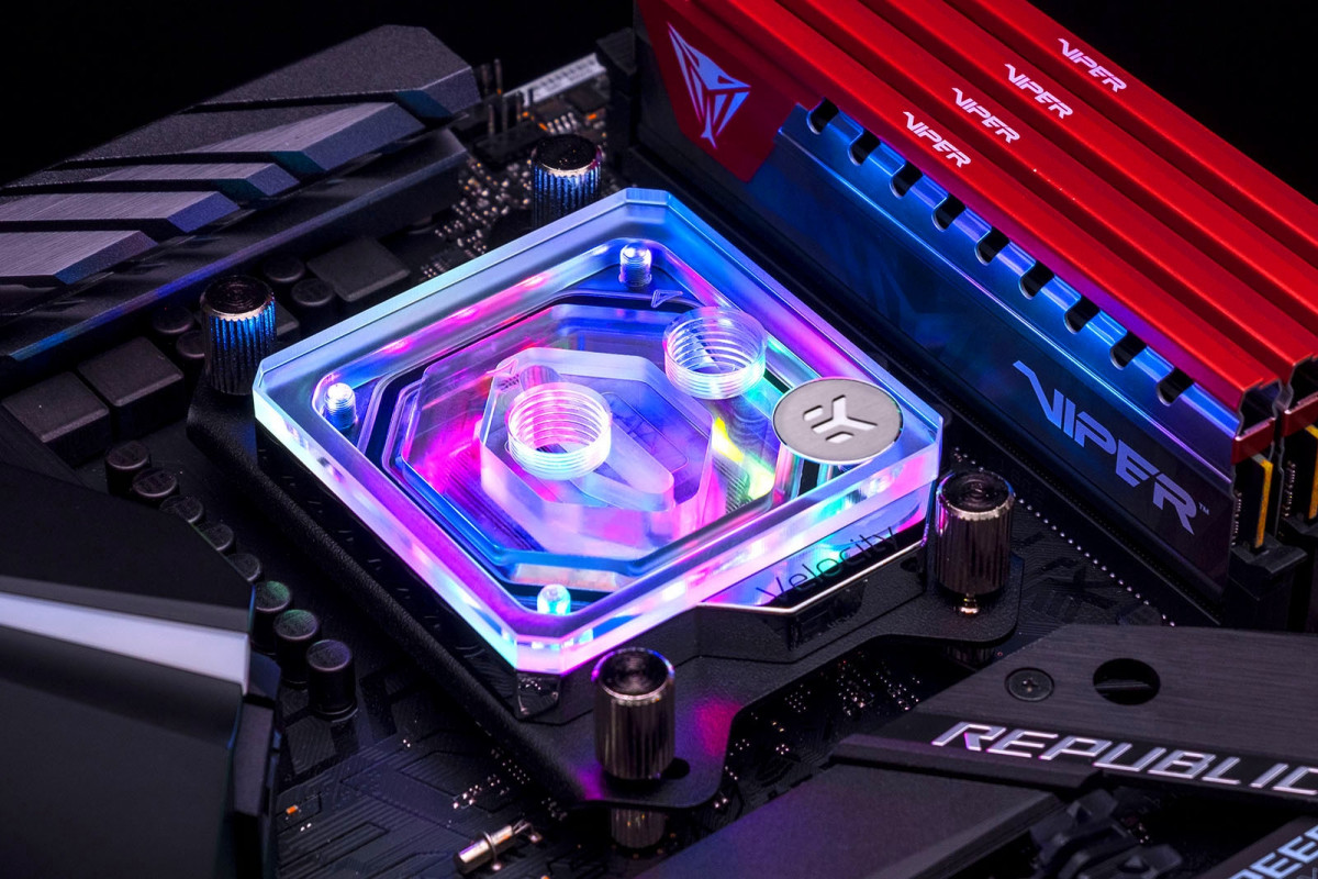 EK-Quantum Velocity D-RGB - AMD Nickel + Plexi
