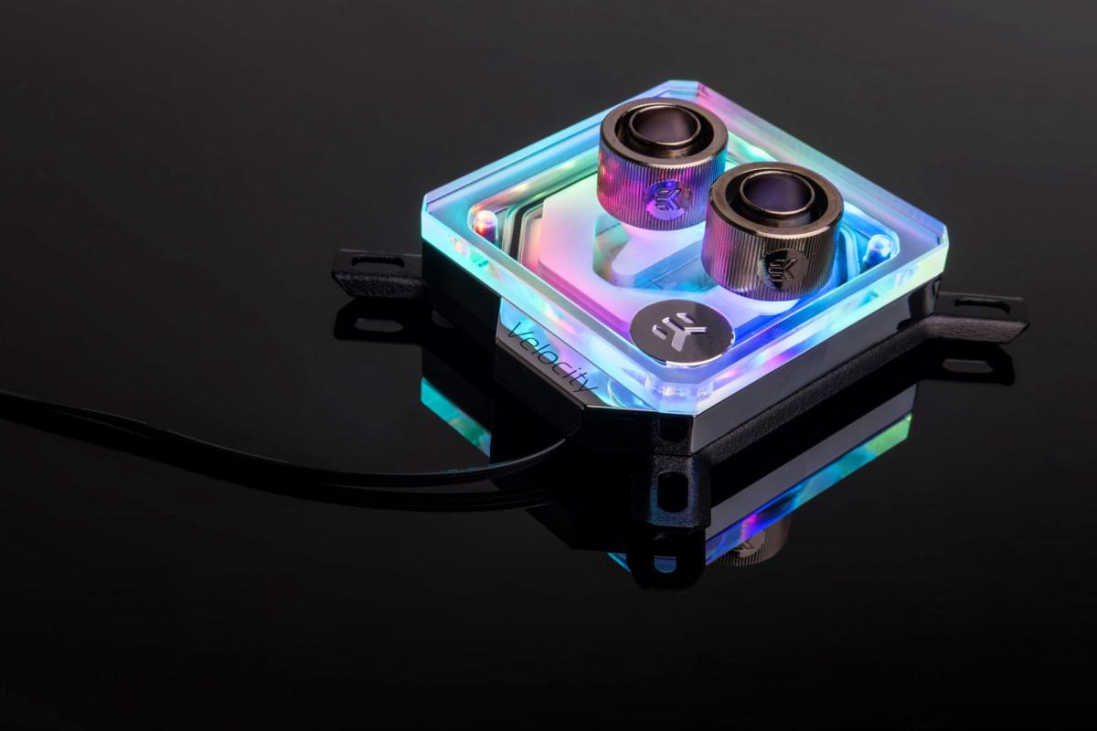EK-Velocity D-RGB - Nickel + Plexi