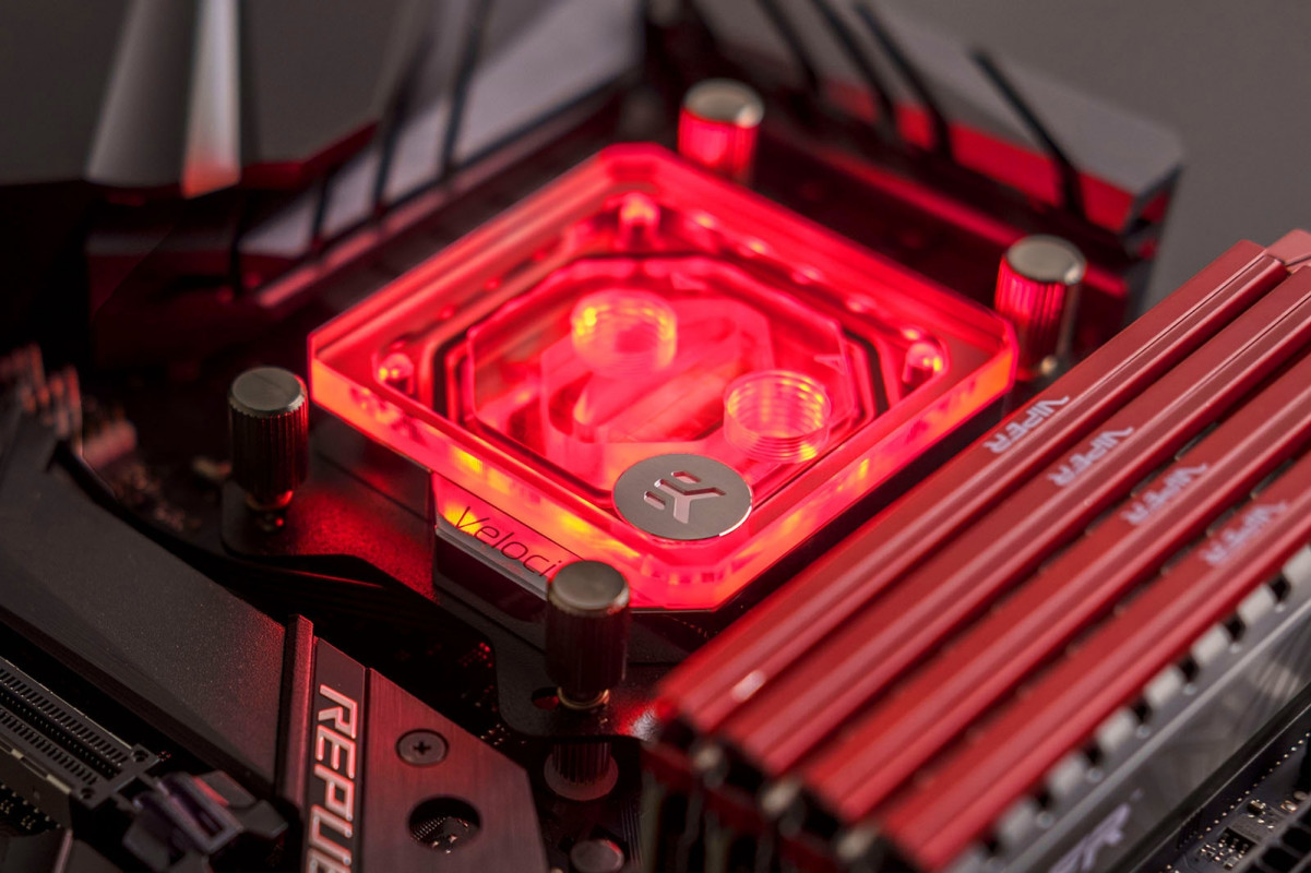 EK-Velocity RGB - AMD Nickel + Plexi