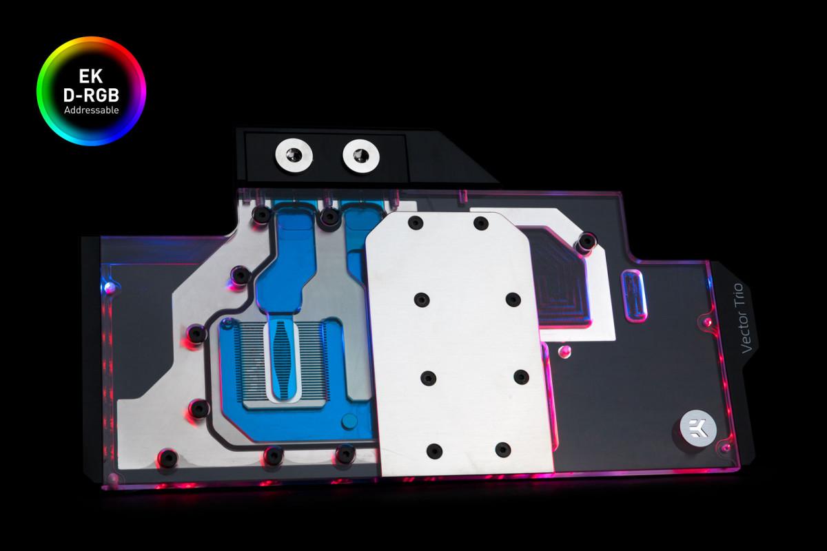 EK-Quantum Vector Trio RTX 2080 D-RGB - Nickel + Plexi