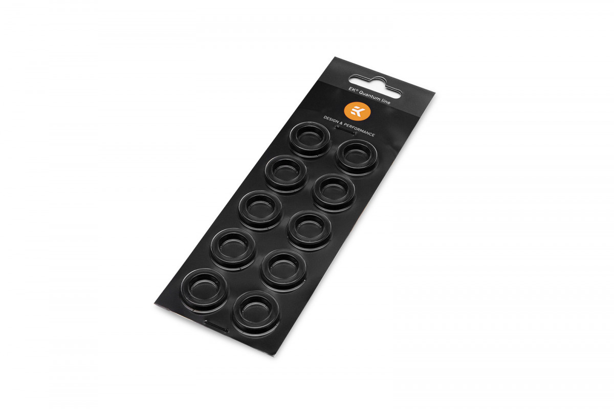 EK-Torque HTC-16 Color Rings Pack - Black (10pcs)