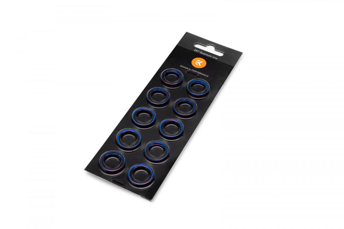EK-Quantum Torque Color Ring 10-Pack HDC 16 - Blue