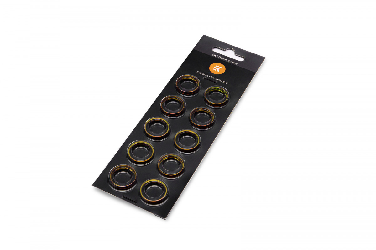 EK-Torque HTC-12 Color Rings Pack - Gold (10pcs)