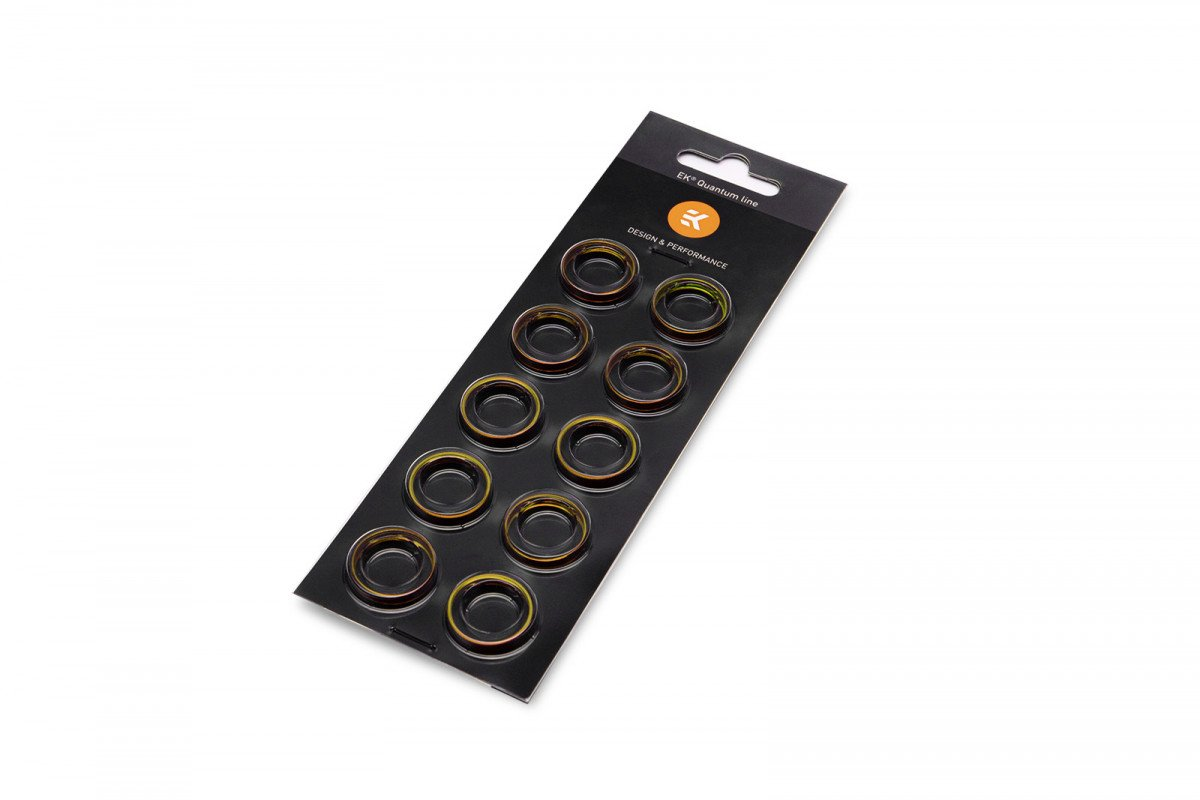 EK-Quantum Torque Color Ring 10-Pack STC 12/16 - Gold