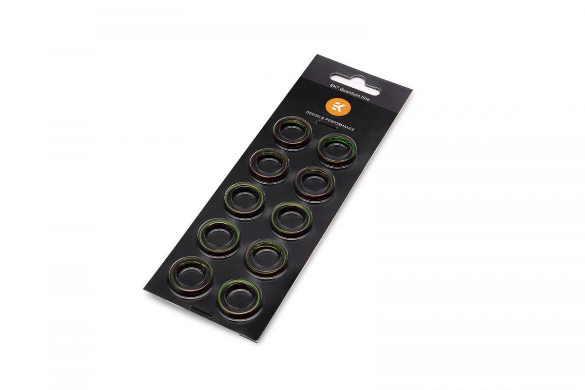 EK-Torque HTC-14 Color Rings Pack - Green (10pcs)