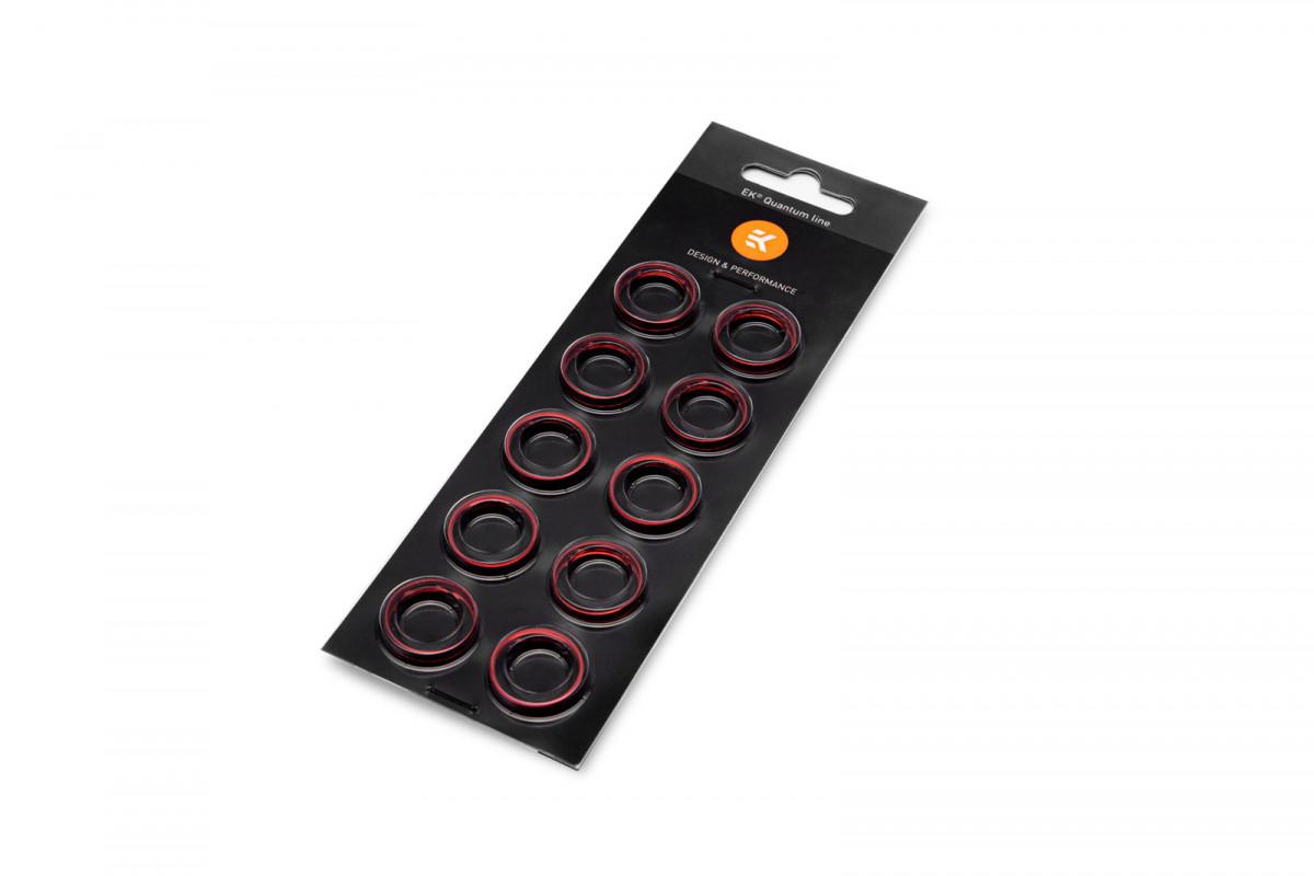 EK-Torque HTC-16 Color Rings Pack - Red (10pcs)
