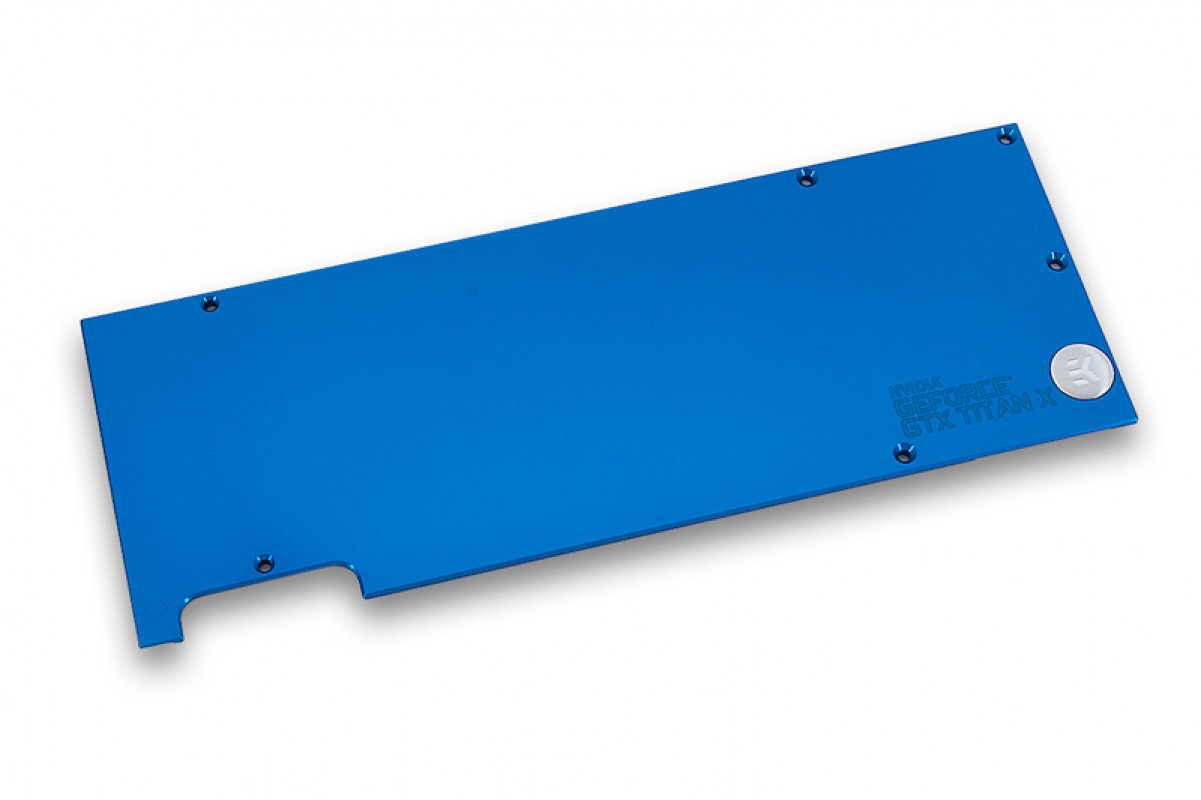 EK-FC Titan X Backplate - Blue
