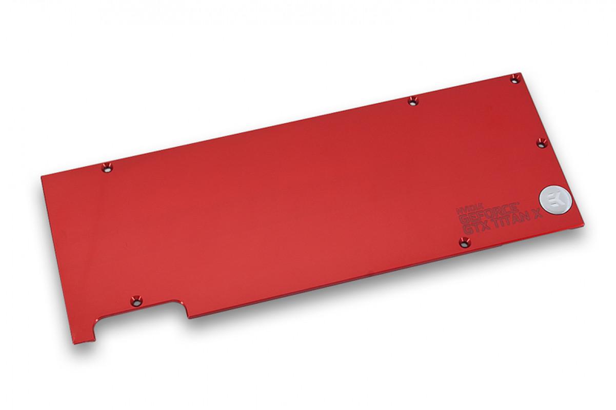 EK-FC Titan X Backplate - Red