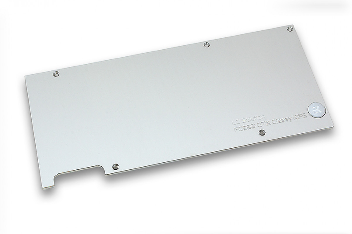 EK-FC980 GTX Classy KPE Backplate - Nickel