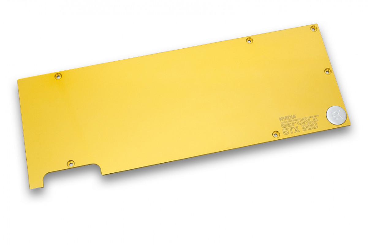 EK-FC980 GTX Backplate - Gold