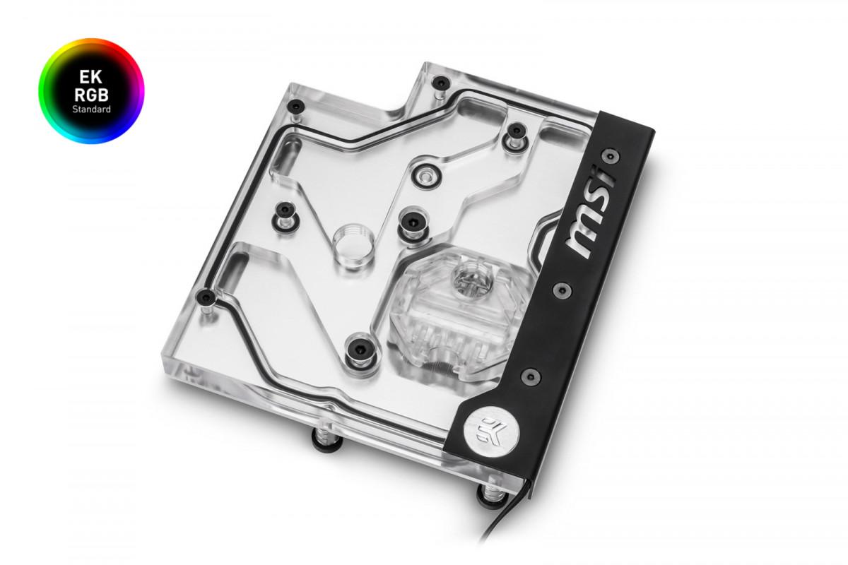 EK-FB MSI X470 M7 RGB Monoblock - Nickel