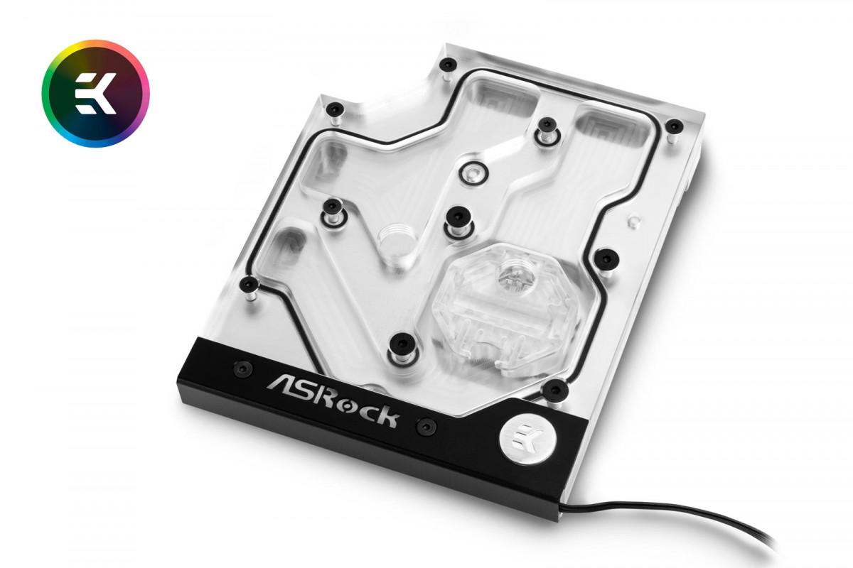 EK-FB ASRock X470 Gaming K4 RGB Monoblock - Nickel
