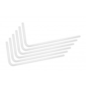 EK-Loop Hard Tube 16mm 0.8m Pre-Bent 90° - Acrylic (6pcs)