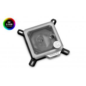 EK-Quantum Velocity D-RGB - Nickel + Frosted Plexi