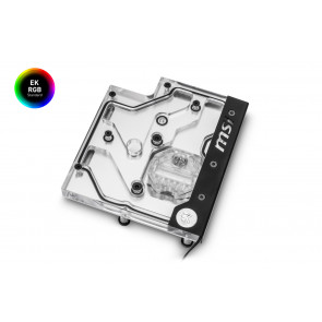 EK-FB MSI X470 M7 RGB Monoblock - Nickel