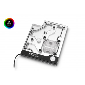 EK-FB MSI X470 Pro Carbon RGB Monoblock - Nickel