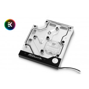 EK-FB ASRock X470 Gaming K4 RGB Monoblock - Nickel