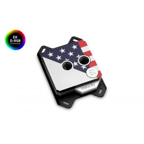 EK-Quantum Velocity Honor D-RGB - AMD Black Nickel + Stars & Stripes