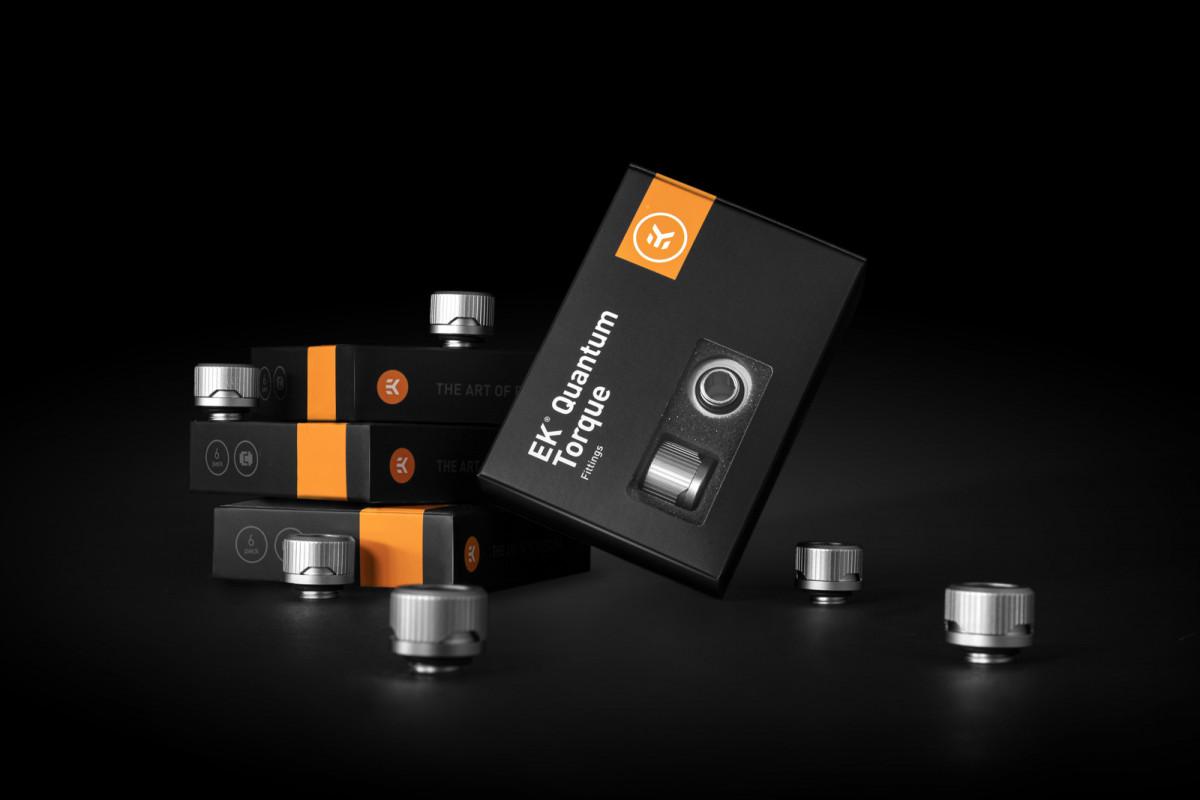 EK-Quantum Torque 6-Pack HDC 12 - Satin Titanium
