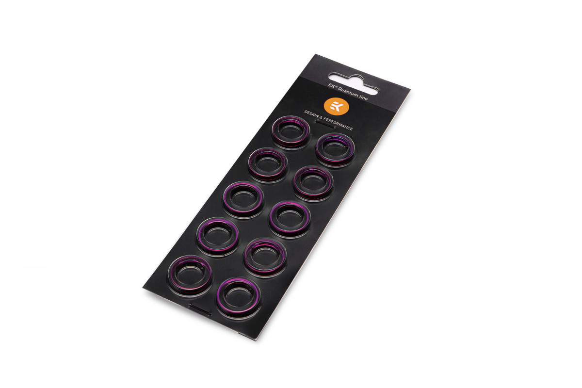EK-Torque HTC-16 Color Rings Pack - Purple (10pcs)