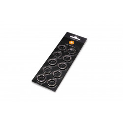 EK-Quantum Torque Color Ring 10-Pack HDC 12 - Nickel