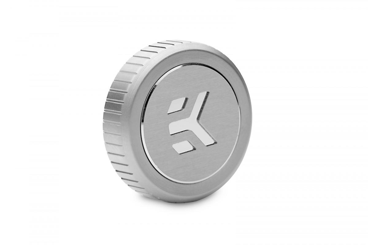 EK-Quantum Torque Plug w/Badge - Satin Titanium