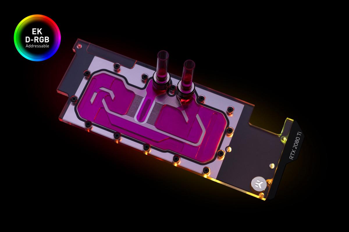EK-Quantum Vector Direct RTX RE Ti D-RGB - Nickel + Plexi