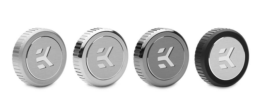 EK-Quantum Torque plug with a badge