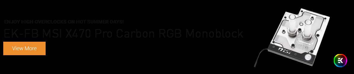 EK-FB MSI X470 Pro Carbon RGB Monoblock