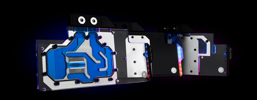 EK-Quantum Vector Trio water block for gpu