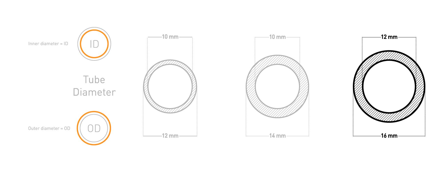 EK pre-bent tubing diagram