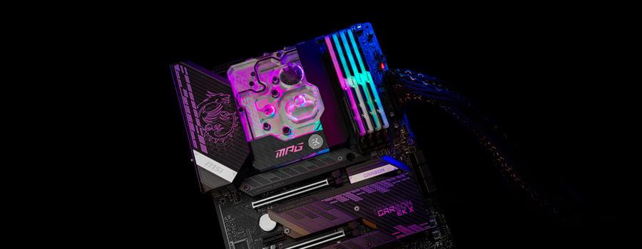 MSI MPG Z590 Carbon EK X motherboard + monoblock combo