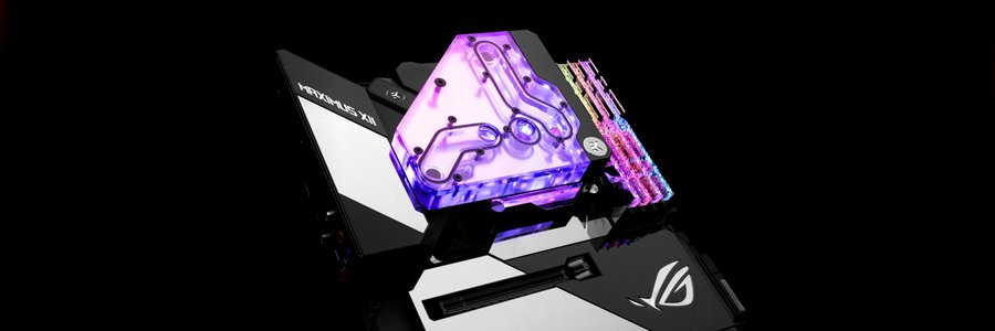 EK Z490 Formula XII ROG Bridge water cooling