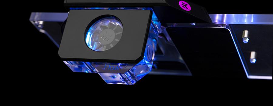 EK GPU-mounted flow indicator