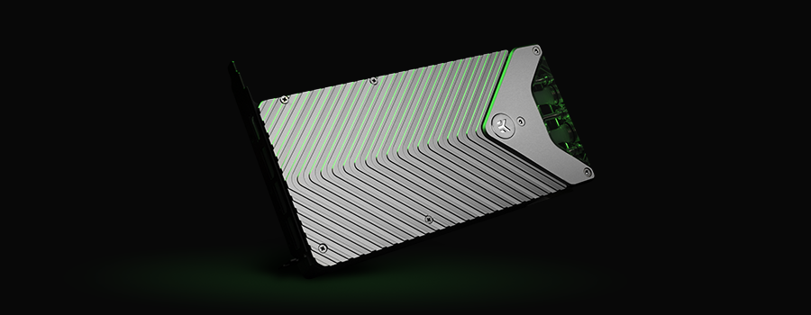 Silver backplate for the EK-Quantum Vector FE RTX 3080